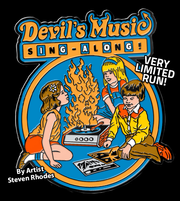 teeVillain: Devils Music Pin