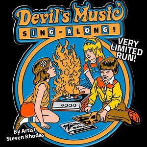 teeVillain: Devils Music Pin