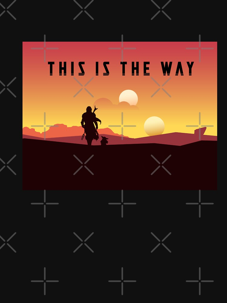 RedBubble: the mando sun set best time
