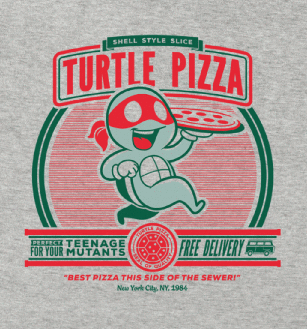 BustedTees: Turtle Pizza