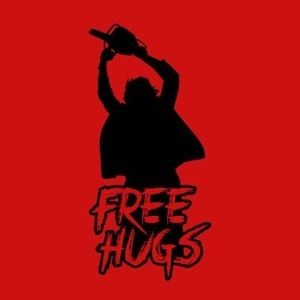 Five Finger Tees: Leatherface Free Hugs T-Shirt