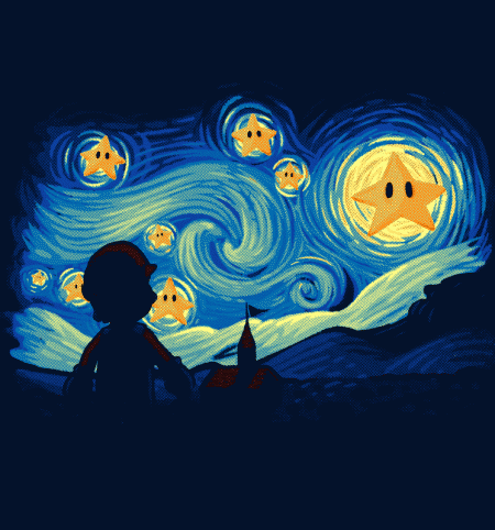 BustedTees: Super Starry Night