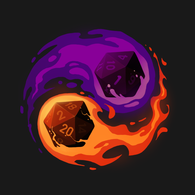TeePublic: Balance dice - Dungeon Master RPG Player - Role Playing Critical Hit