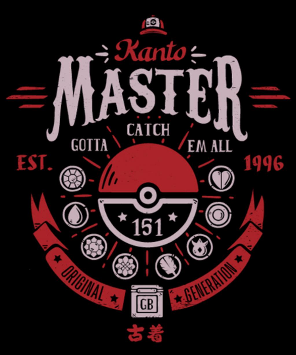 Qwertee: Kanto Master