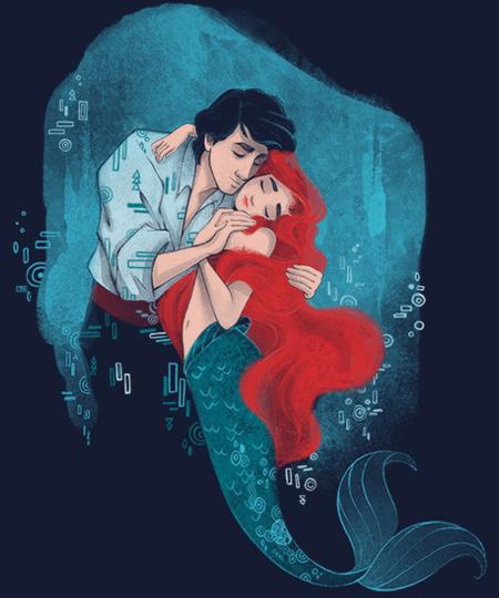 Qwertee: Mermaid Kiss