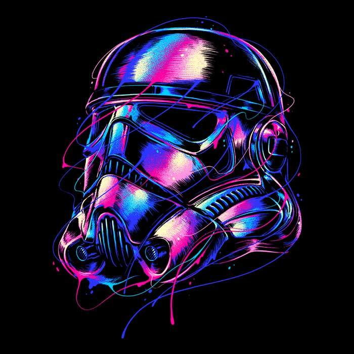 Once Upon a Tee: Colorful Trooper