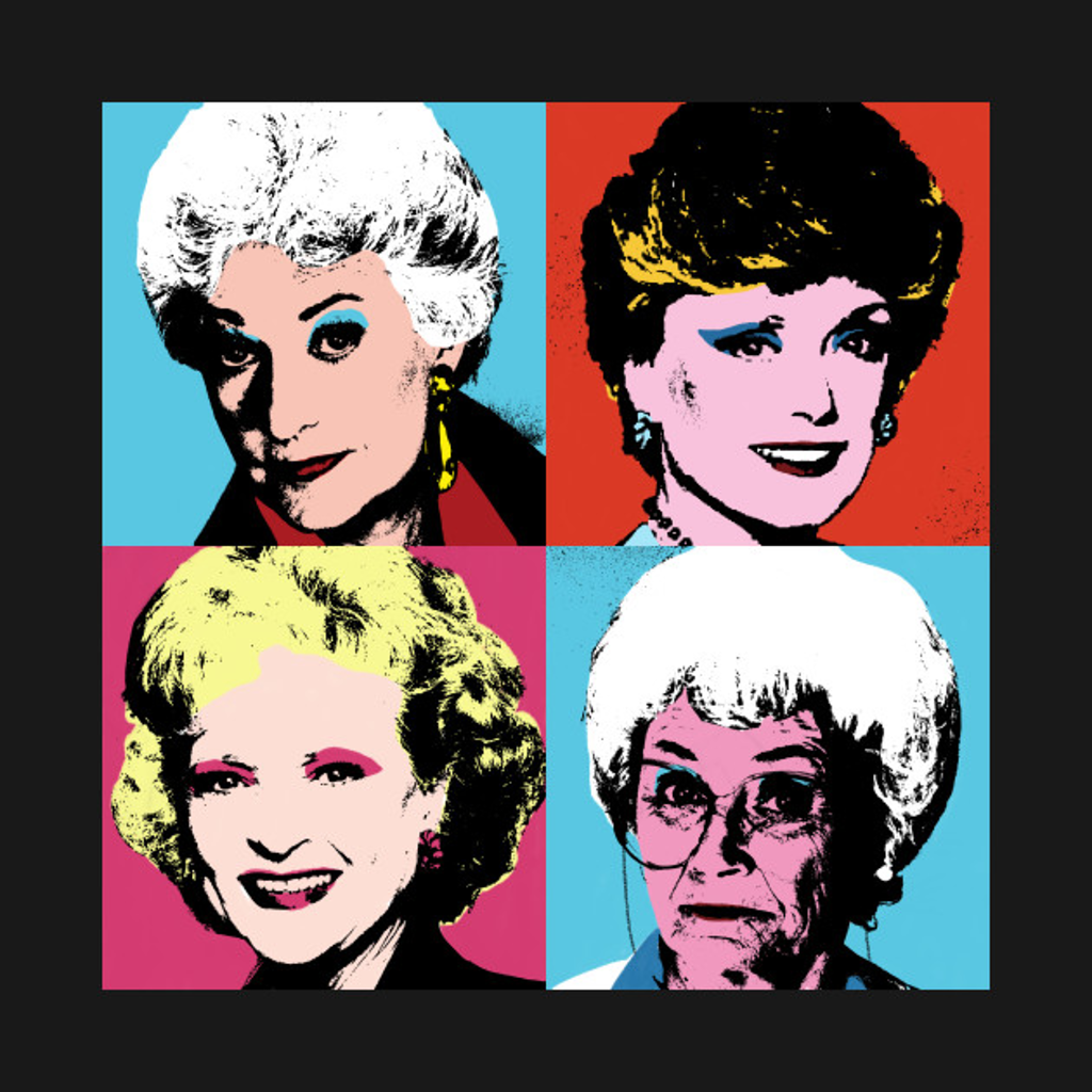 TeePublic: Golden Warhol Girls