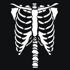 Textual Tees: Halloween Skeleton