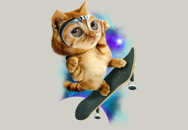 Design by Humans: SKATEBOARD CAT
