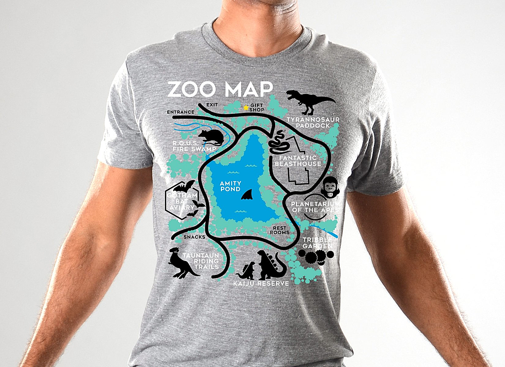 SnorgTees: Zoo Map Limited Edition Tri-Blend