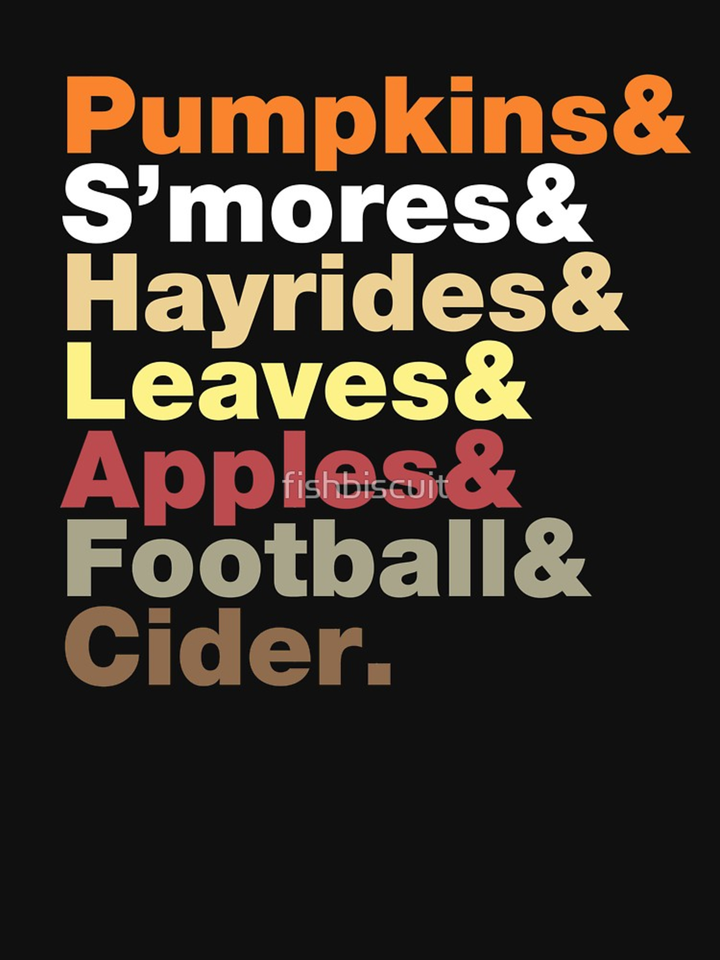 RedBubble: Fall Helvetica