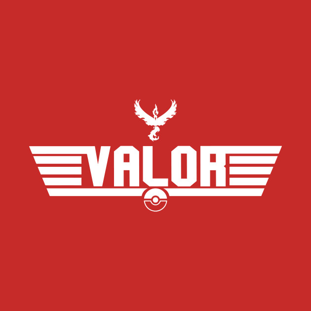 TeePublic: Top Gun Team Valor (White) T-Shirt