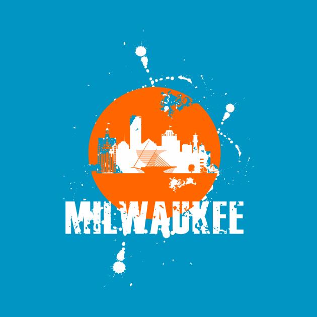 TeePublic: Milwaukee skyline