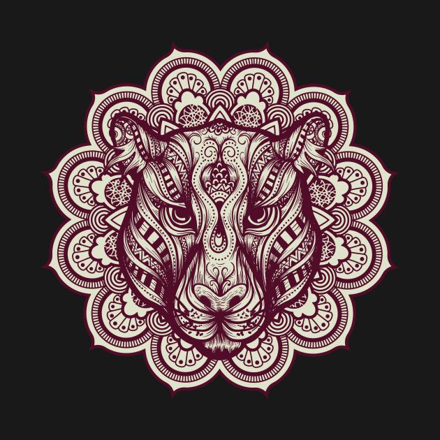 TeePublic: Tiger Mandala Monochrome
