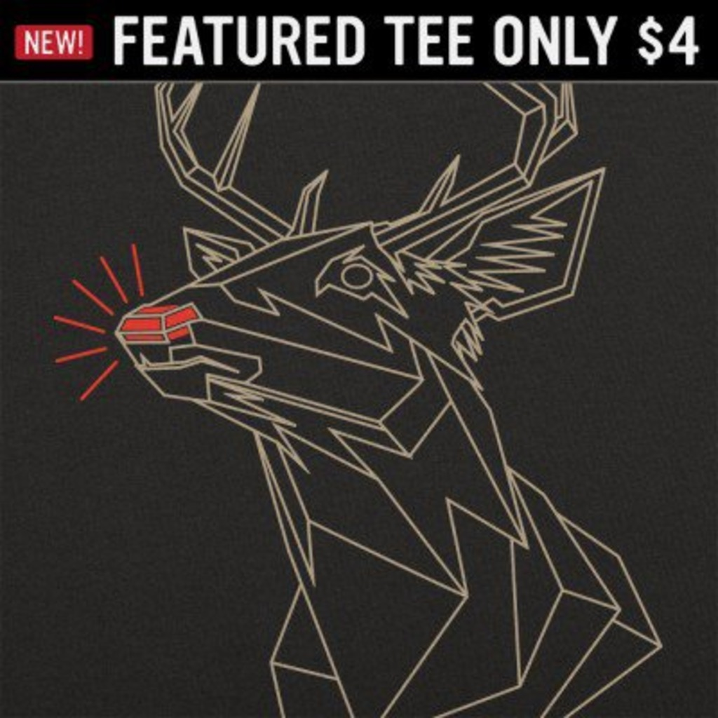 6 Dollar Shirts: Polygon Rudolph
