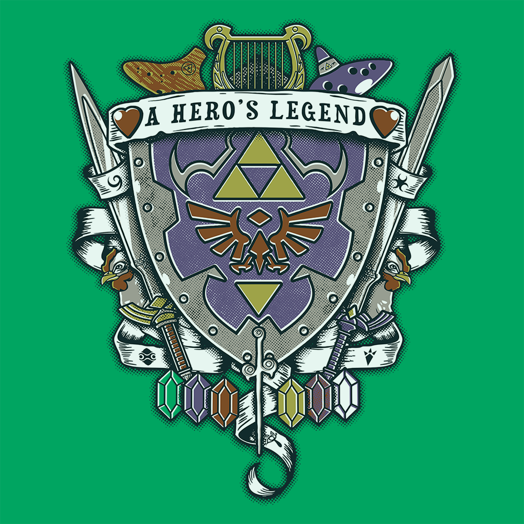 Pop-Up Tee: A Hero's Legend Crest