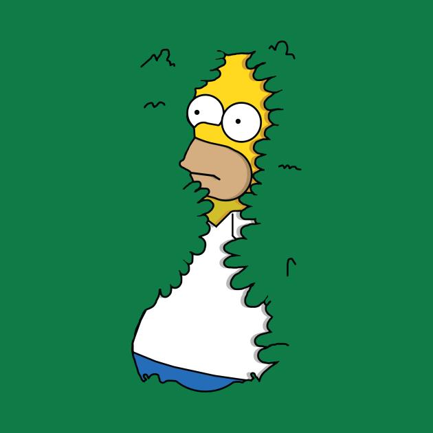 TeePublic: Homer In Hedges