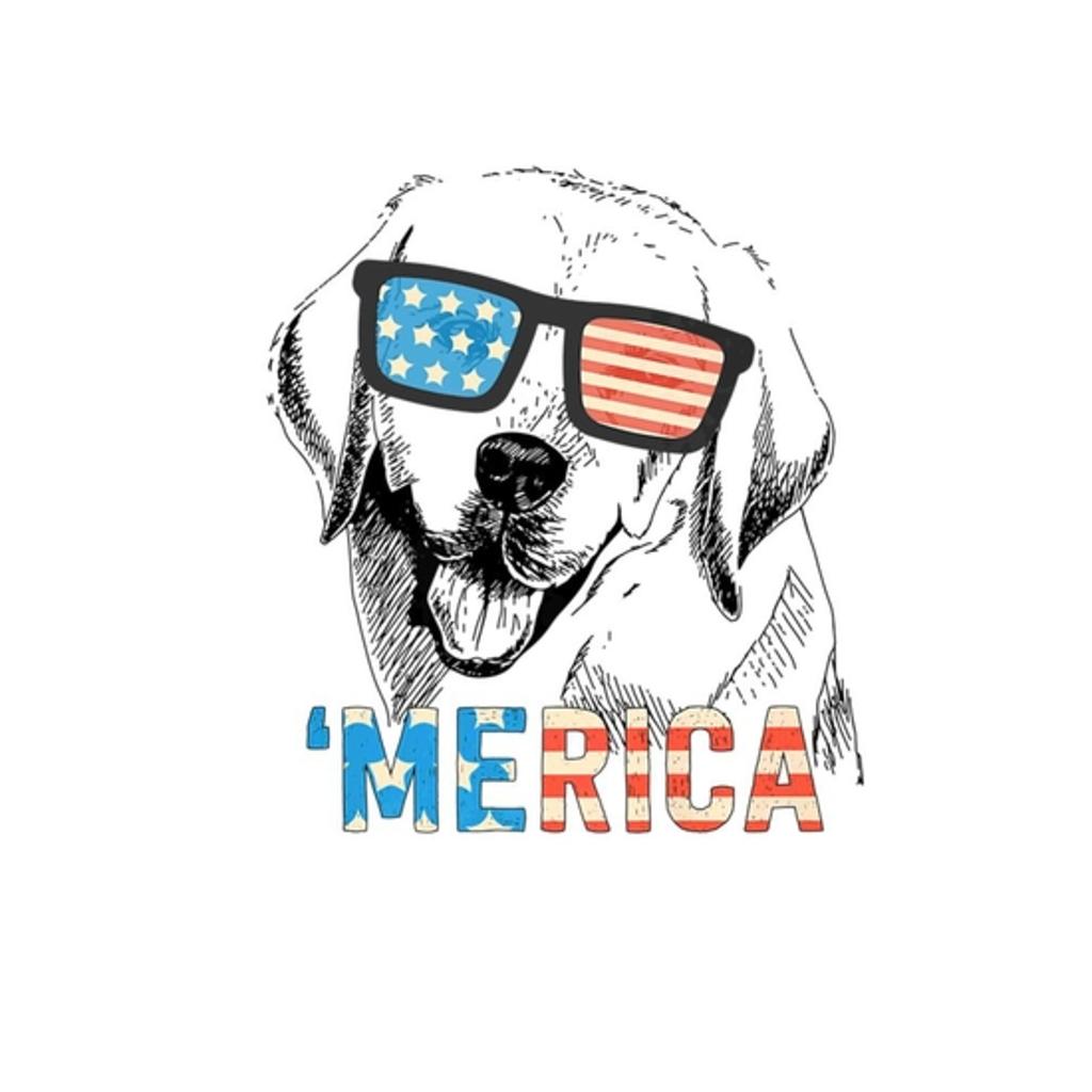 BustedTees: 4th July Shirt Merica Labrador USA Flag Tee