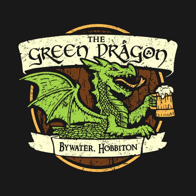 TeePublic: The Green Dragon Sign (For Dark Shirts)
