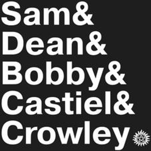 Textual Tees: Supernatural Names T-Shirt