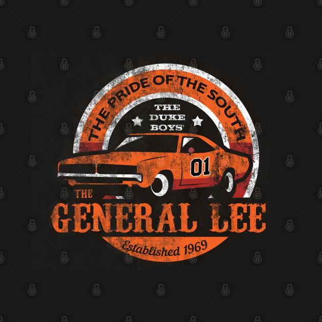 TeePublic: The General Lee, distressed