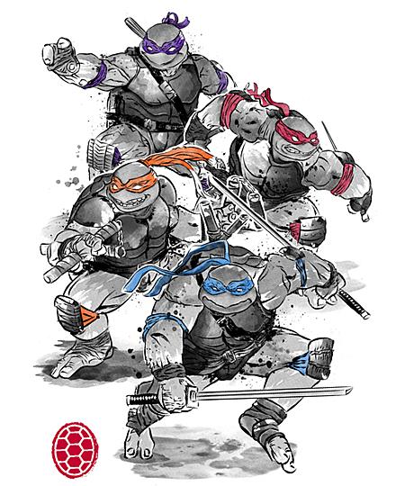 Qwertee: Ninja Turtles sumi-e