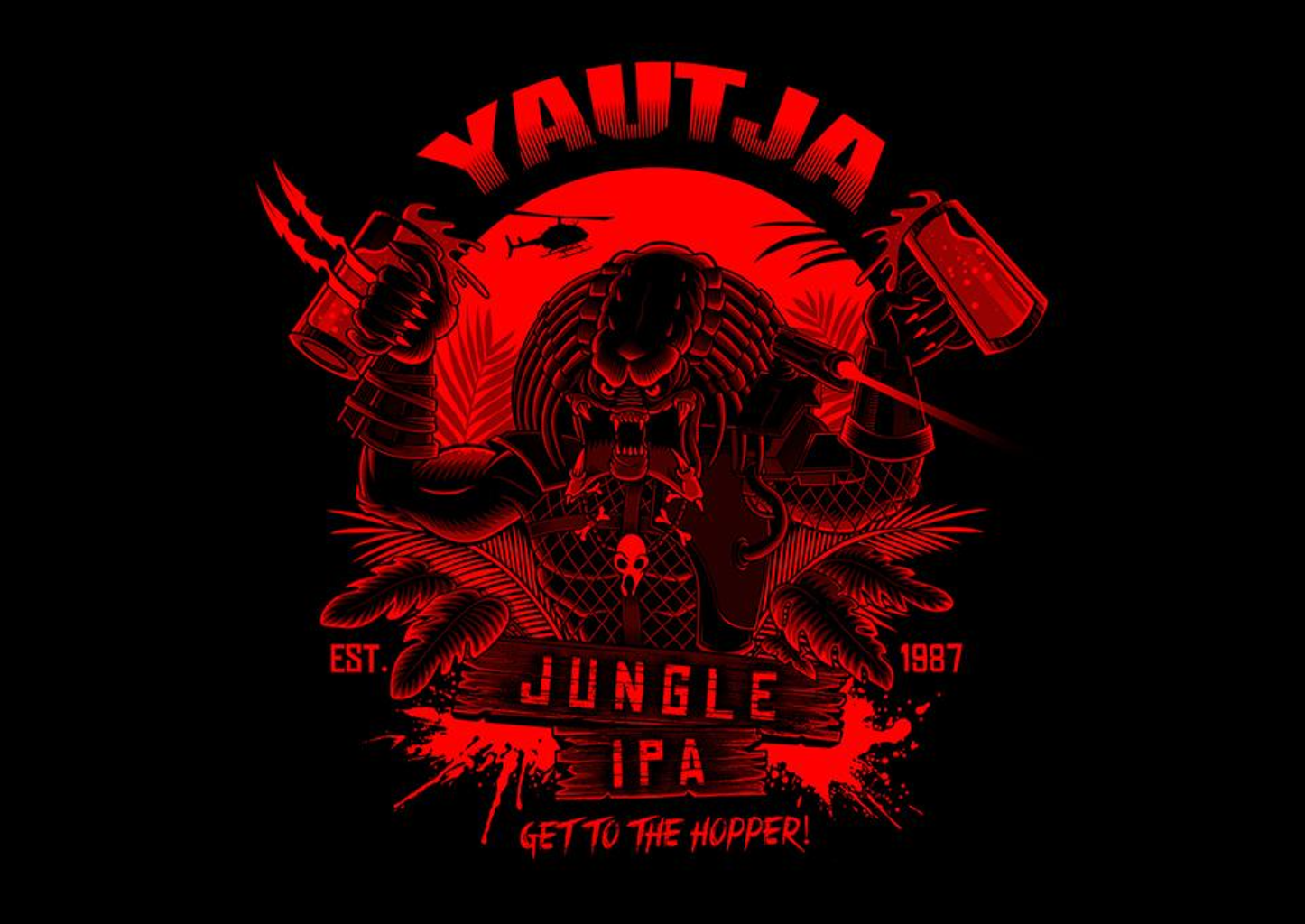 TeeFury: Yautja Jungle IPA