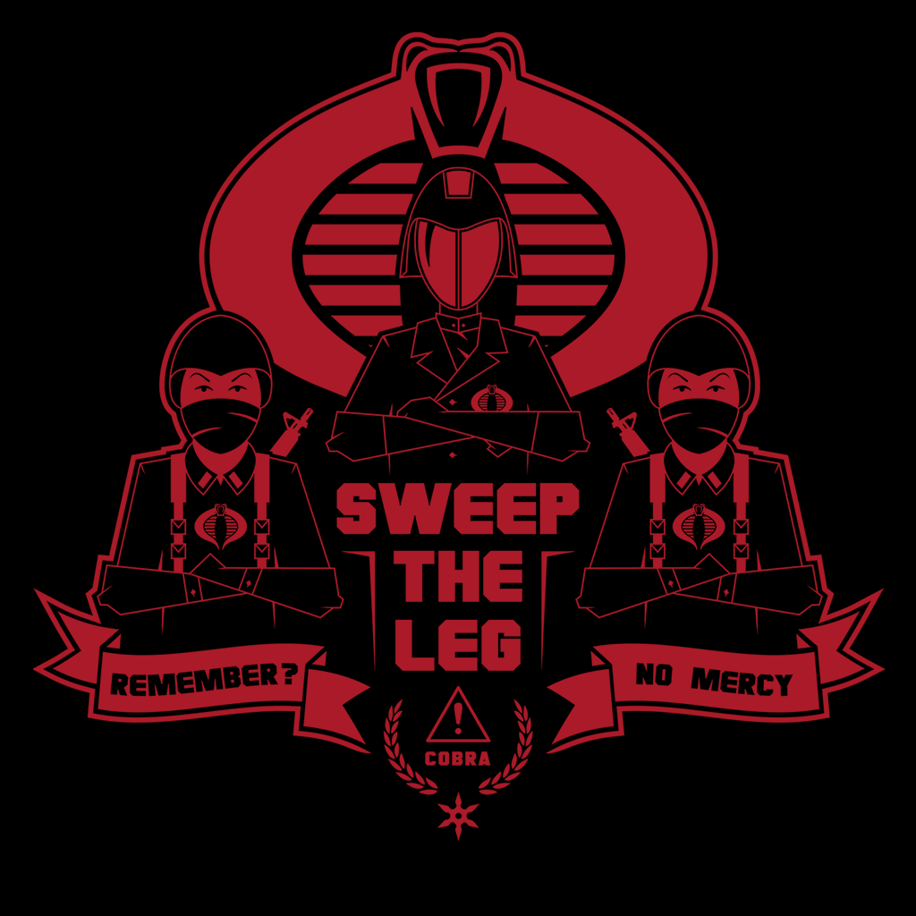 Pop-Up Tee: Cobra- Sweep The Leg