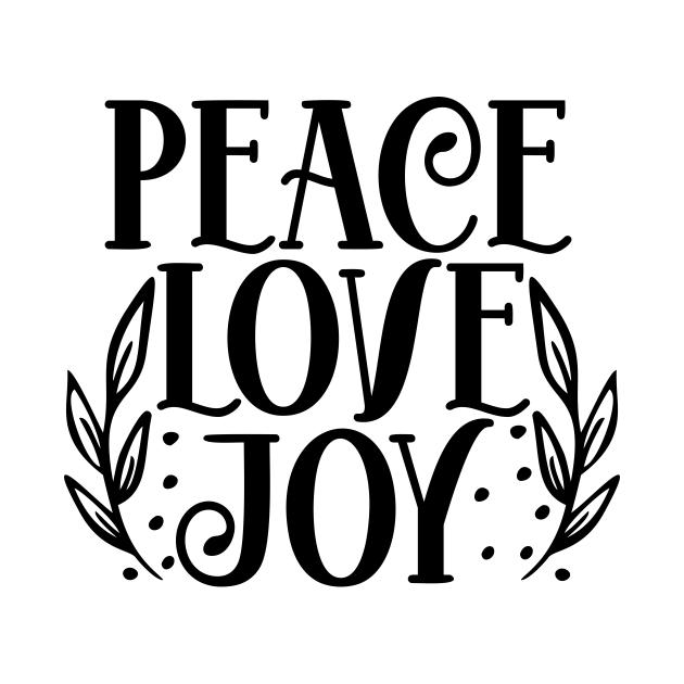 TeePublic: Peace love joy