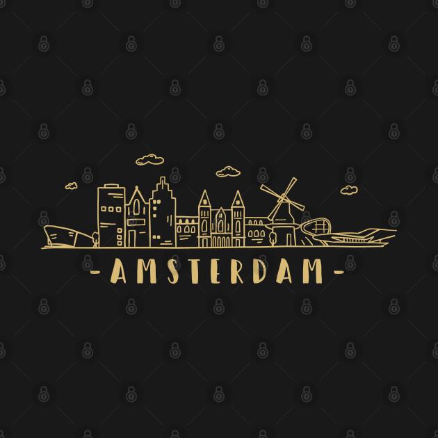 TeePublic: Amsterdam Skyline Travel