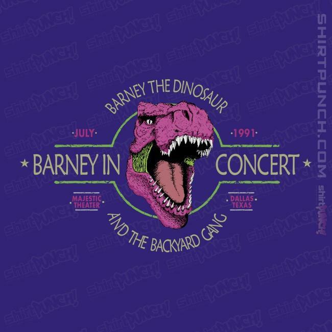 ShirtPunch: Barney In Concert