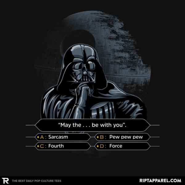 Ript: Darth Wants to be a Millionaire
