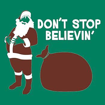 BustedTees: Don't Stop Believin Hoodie
