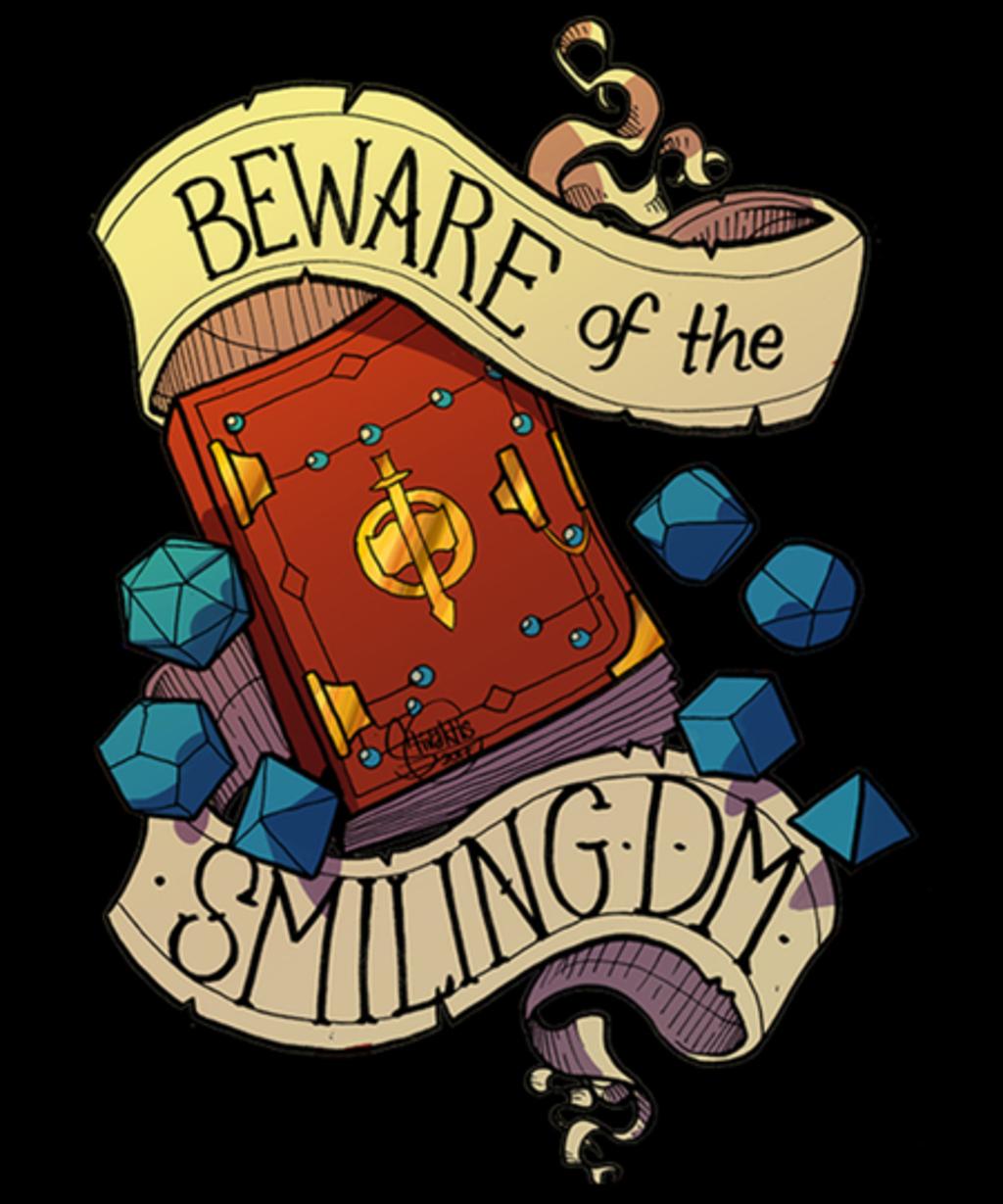 Qwertee: Beware of the Smiling Dungeon Maste