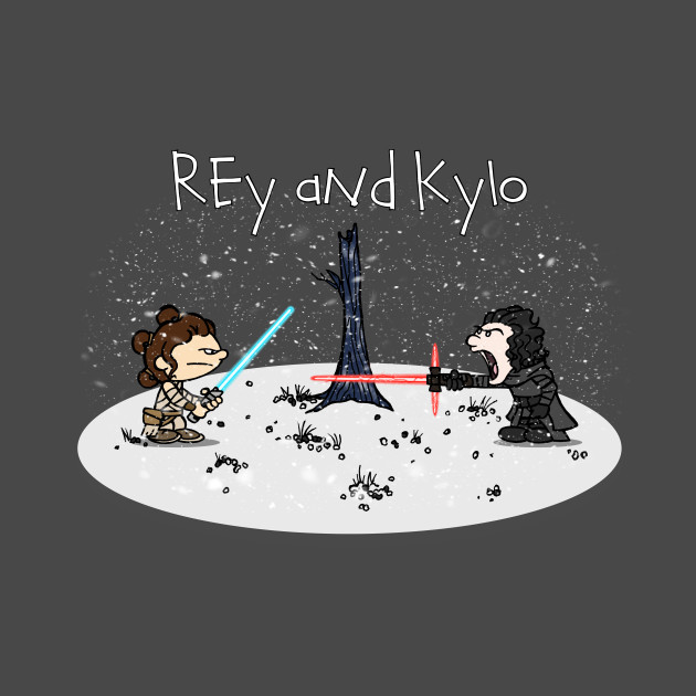 TeePublic: Rey and Kylo T-Shirt