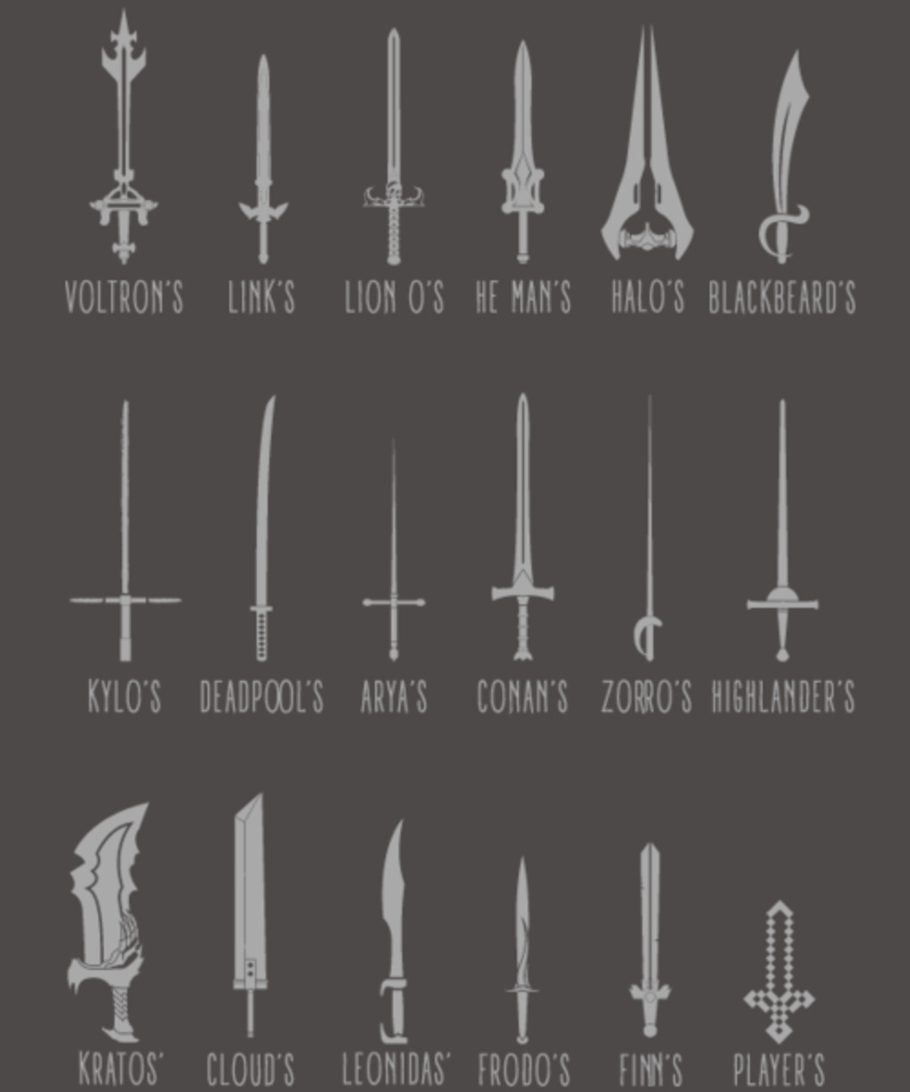 Qwertee: Popular Swords