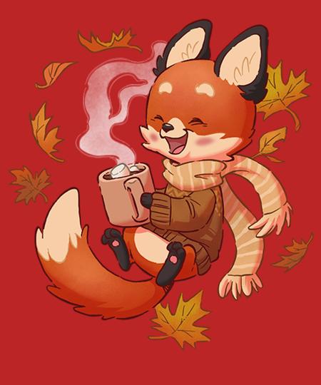 Qwertee: Cozy Fox Fall