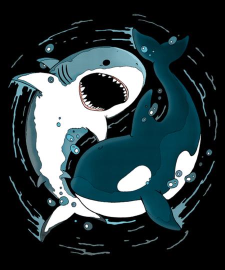 Qwertee: Shark Orca Balance