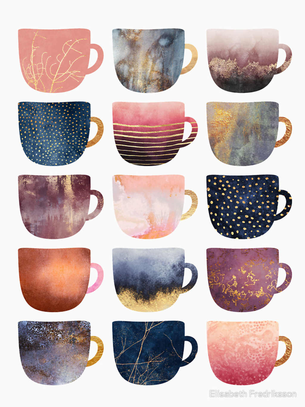 RedBubble: Pretty Coffee Cups 2