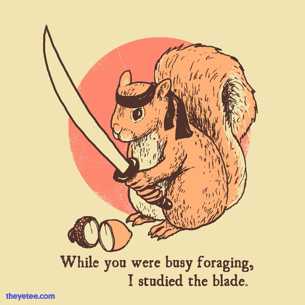 The Yetee: Squirrel Blade