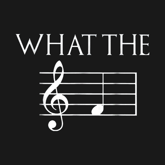 TeePublic: What The F Musical Note