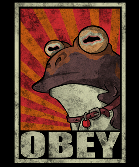 Qwertee: Obey the Hypnotoad!
