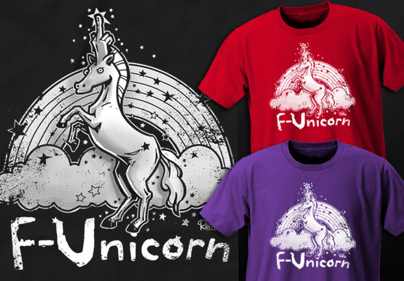 teeVillain: F-Unicorn