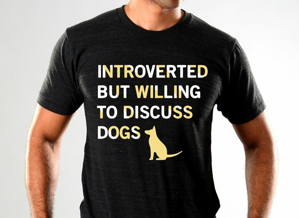 SnorgTees: Introverted But Willing To Discuss Dogs Limited Edition Tri-Blend