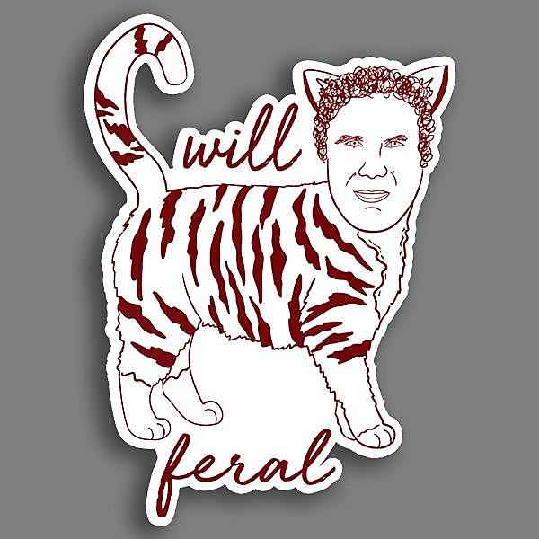 BustedTees: Will Feral Vinyl Sticker