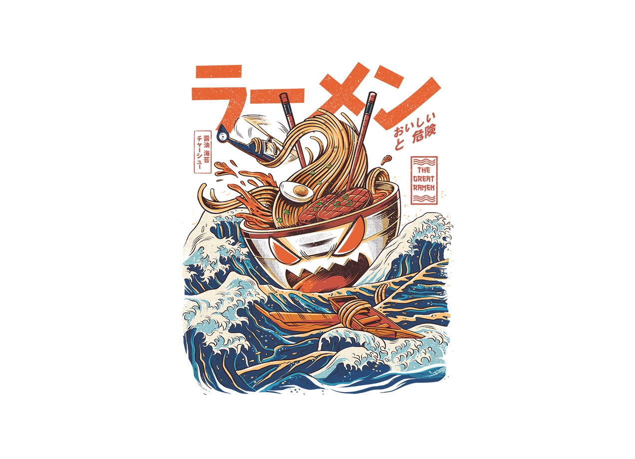 Threadless: The Great Ramen off Kanagawa