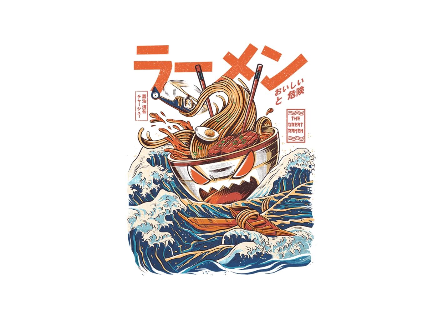 Threadless: The Great Ramen off Kanagawa