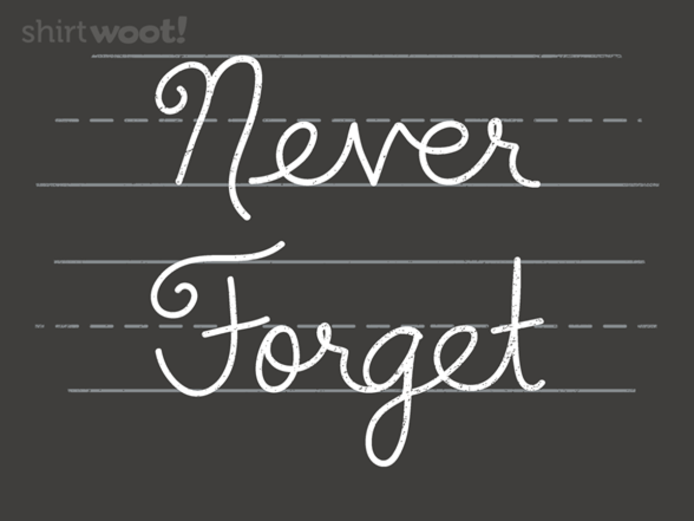 Woot!: Cursive - Never Forget