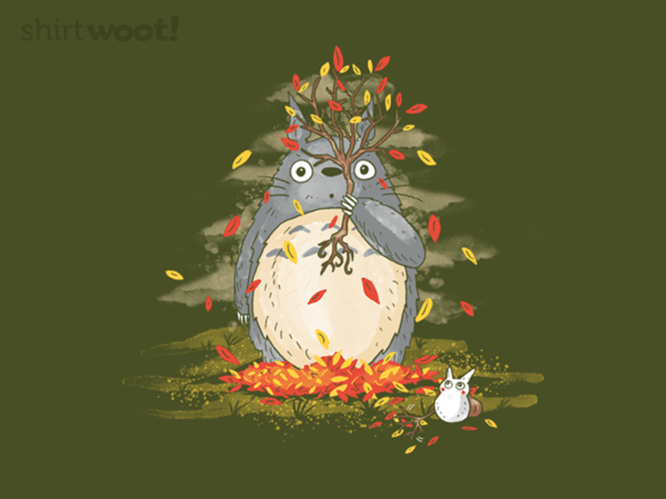 Woot!: Fall Forest Spirit Pullover Hoodie - $21.00 + $5 standard shipping