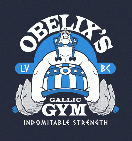 BustedTees: Obelix's Gym